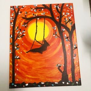 Other - Hand painted swing into the sunset canvas